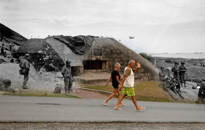 D-Day Landing Sites Then And Now