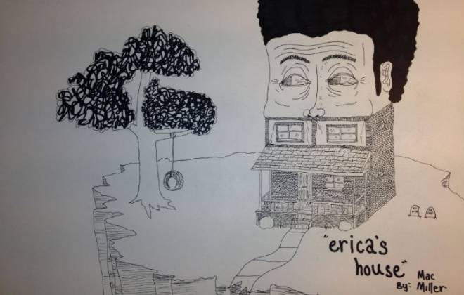 Mac Miller featuring Treejay – Erica's House (Produced by Larry Fisherman & ID Labs)