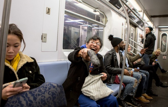 Dildo Wielding Menace At Large On NYC Subway