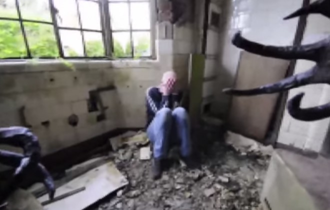 Terrifying Owlman Stalks Visitors At Abandoned Hospital
