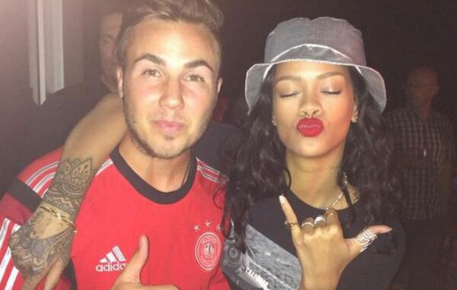Rihanna Hammed It Up With The German Football Team Last Night