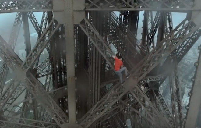 More Footage Of Silly People Climbing Tall Things (The Eiffel Tower)