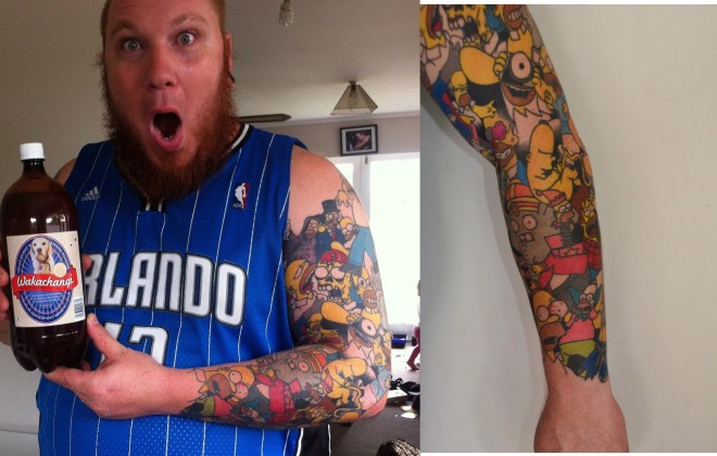 Simpsons Tattoo Guy Sensibly Only Acknowledges Earlier Seasons