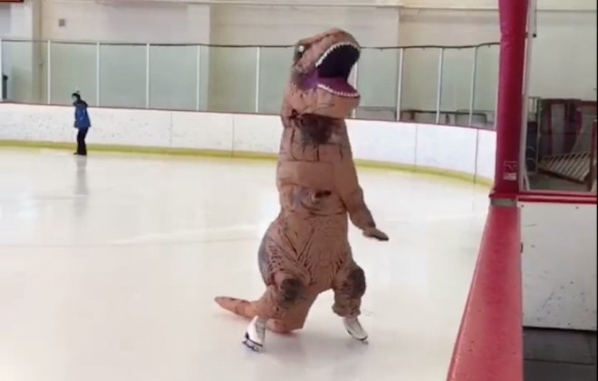 Dinosaur On Ice