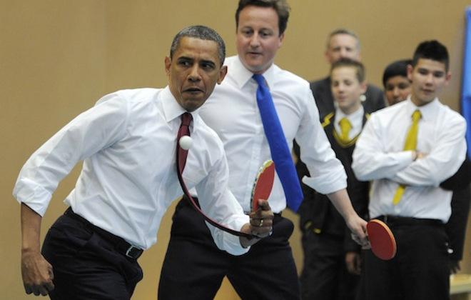 Barak Obama & David Cameron