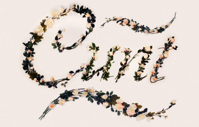 Fuck, Cunt And Other Swears Written In Lovely Floral Typeface