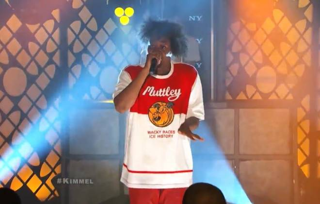 Danny Brown Performs '25 Bucks' with Megan James from Purity Ring on Jimmy Kimmel Live