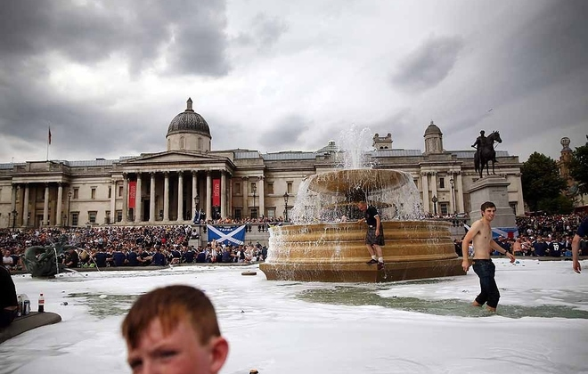 The Tartan Army At Trafalgar Square