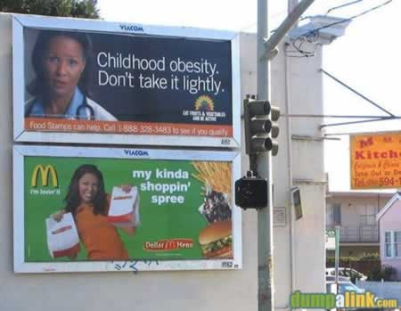 Badly placed adverts