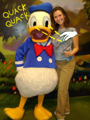 Donald Duck Accused of Molesting Lady at Epcot