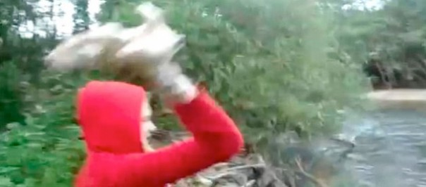 Puppy Throwing Girl