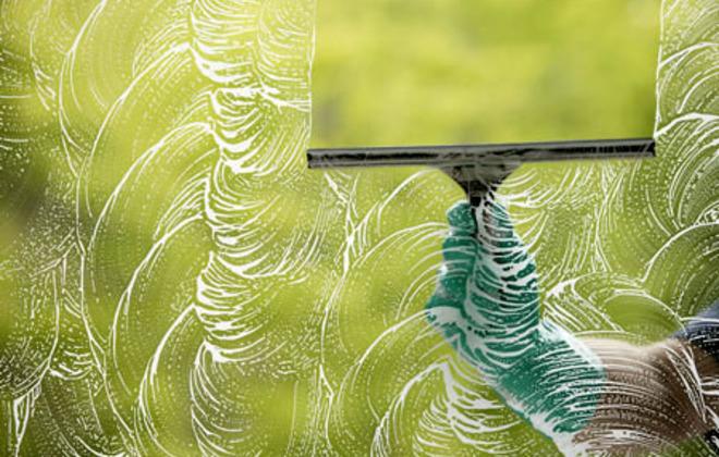 Cleaning Barbara Follet's Windows