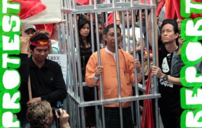 Burma Protest Report