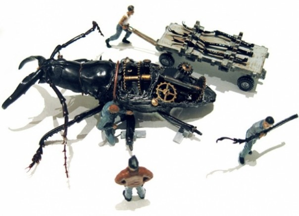 Micro Steampunk Robo-beetles