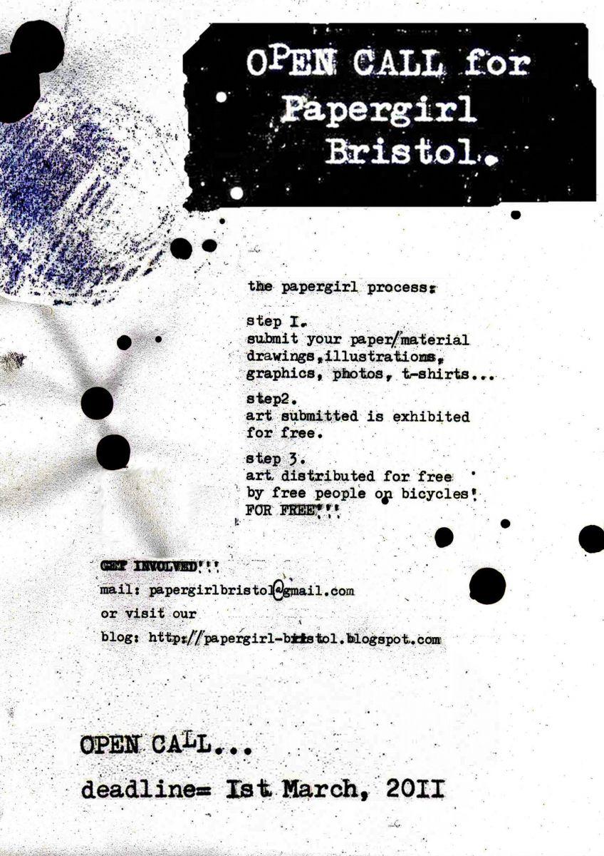 Papergirl Bristol flyer