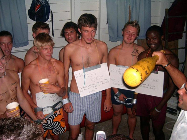initiation or incarceration hazing in fraternities Sorority hazing is not always a girls only event: frat bros are sometimes thrown into the mix we had one night of hazing in the process of finding out who our bigs were, says one anonymous collegiette.