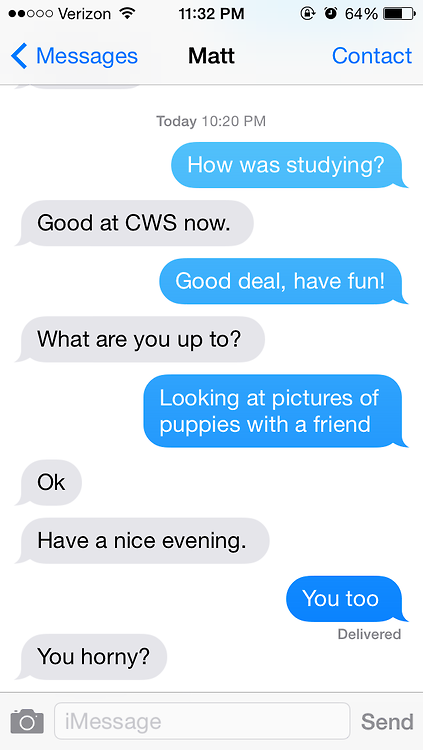 Flirty dares to ask a guy over text