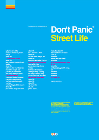 Street Life (Blue) by Don't Panic/Peter Leung