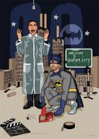 Bateman And Batman by Jim'll Paint It